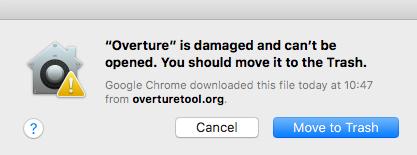 Mac OSX Error